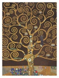 Tree of Life (Brown Variation) V Posters by Gustav Klimt