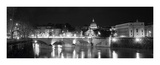Bridge in the Vatican Lit Up at Night (Detail) Prints by Walter Zerla