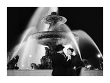 Man and Woman Near Fountain, Paris 1951 Prints by Genevieve Naylor