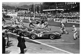 Drivers at the start of a race, England 1958 Plakaty