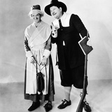 Stan Laurel and Oliver Hardy in a Thanksgiving-Themed Mgm Publicity Shot, Early 1930S Photo