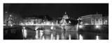 Bridge in the Vatican Lit Up at Night (Detail) Posters by Walter Zerla