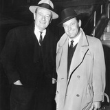 John Wayne, William Holden in New York City, 1960 Photo