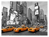 Taxis in Times Square, NYC Art by Vadim Ratsenskiy