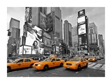 Taxis in Times Square, NYC Posters par Vadim Ratsenskiy