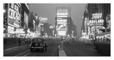 Times Square Illuminated by Large Neon Advertising Signs, 1938 Poster von Philip Gendreau