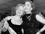 Helen Hayes, Joan Crawford, at the Premiere of the Rose Tattoo, New York Photo