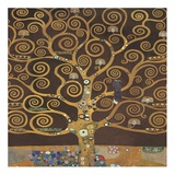 Tree of Life (Brown Variation) II Posters by Gustav Klimt