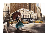 Kiss in Park Avenue Prints by Pierre Benson