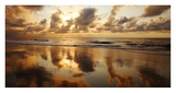 Hawaii, Maui, Kihei, Sunset at Kamaole Beach One Posters by Ron Dahlquist