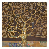 Tree of Life (Brown Variation) II Prints by Gustav Klimt