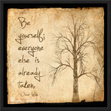 Be Yourself - Oscar Wilde Classic Quote Poster by Jeanne Stevenson
