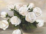 Vaso di Rose Print on Canvas by Silvia Mei