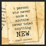 Never Made a Mistake - Albert Einstein Classic Quote Posters by Jeanne Stevenson