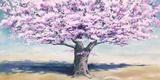 Peach Tree Print on Canvas by Jan Eelder