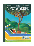 The New Yorker Cover - August 11, 2014 Regular Giclee Print by Lorenzo Mattotti