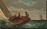 Breezing Up (A Fair Wind), 1873-1876 Stretched Canvas Print by Winslow Homer