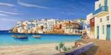 Mykonos Print on Canvas by Adriano Galasso