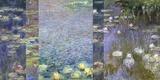 Waterlilies III Reproducción en lienzo por Monet Deco