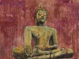Golden Buddha Print on Canvas by Dario Moschetta