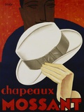 Chapeaux Mossant, 1928 Print on Canvas by  Olsky