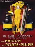 La Maison du Porte-Plume, 1924 Tryck på kanvas av Jean D'Ylen