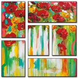 Poppies Glowing Posters van Amanda J. Brooks