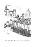 """Beautiful—that's all we need to sue them into oblivion."" - New Yorker Cartoon Premium Giclee Print by Tom Cheney"