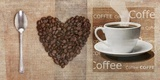 I Love Coffee Print on Canvas by Skip Teller