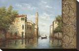 Canal II Stretched Canvas Print by  Aretino