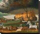 Noah's Ark, 1846 Stretched Canvas Print by Edward Hicks