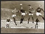 Manchester United vs. Arsenal, Football Match at Old Trafford, October 1967 Framed Photographic Print