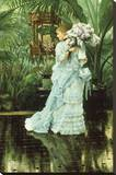 Girl with Lilac Stretched Canvas Print by James Tissot