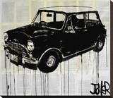 Austin Mini, l'ancêtre de la Mini Cooper Reproduction sur toile tendue par Loui Jover