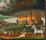 Noah's Ark, 1846 Stampa trasferimenti su tela di Edward Hicks