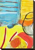 Glass Bowl by the Beach Window Reproduction transférée sur toile par Joan Davis