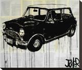 Austin Mini, l'ancêtre de la Mini Cooper Reproduction transférée sur toile par Loui Jover
