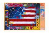 America 2000 Reproduction procédé giclée par Peter Max