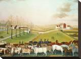 The Cornell Farm, 1848 Trykk på strukket lerret av Edward Hicks