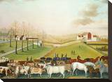 The Cornell Farm, 1848 Stretched Canvas Print by Edward Hicks
