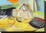 Tea Tray Stretched Canvas Print by Joan Davis
