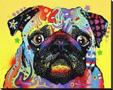 Pug Stretched Canvas Print by Dean Russo