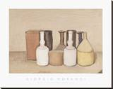 Still Life; Natura Morta, 1953 Stretched Canvas Print by Giorgio Morandi