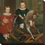 The Hobby Horse, ca. 1840 Stretched Canvas Print by Robert Peckham