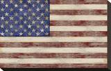 U.S. Flag Stretched Canvas Print by  Sparx Studio