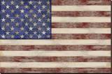 U.S. Flag Stretched Canvas Print by  Sparx Studio