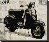 Vespa Stretched Canvas Print by Loui Jover