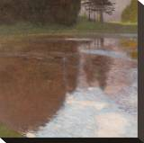 Tranquil Pond Stretched Canvas Print by Gustav Klimt