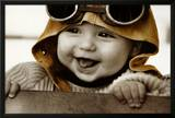 Baby Pilot Poster by Kim Anderson