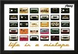 Steez Life Is A Mixtape - Orange Art Print Poster Photo